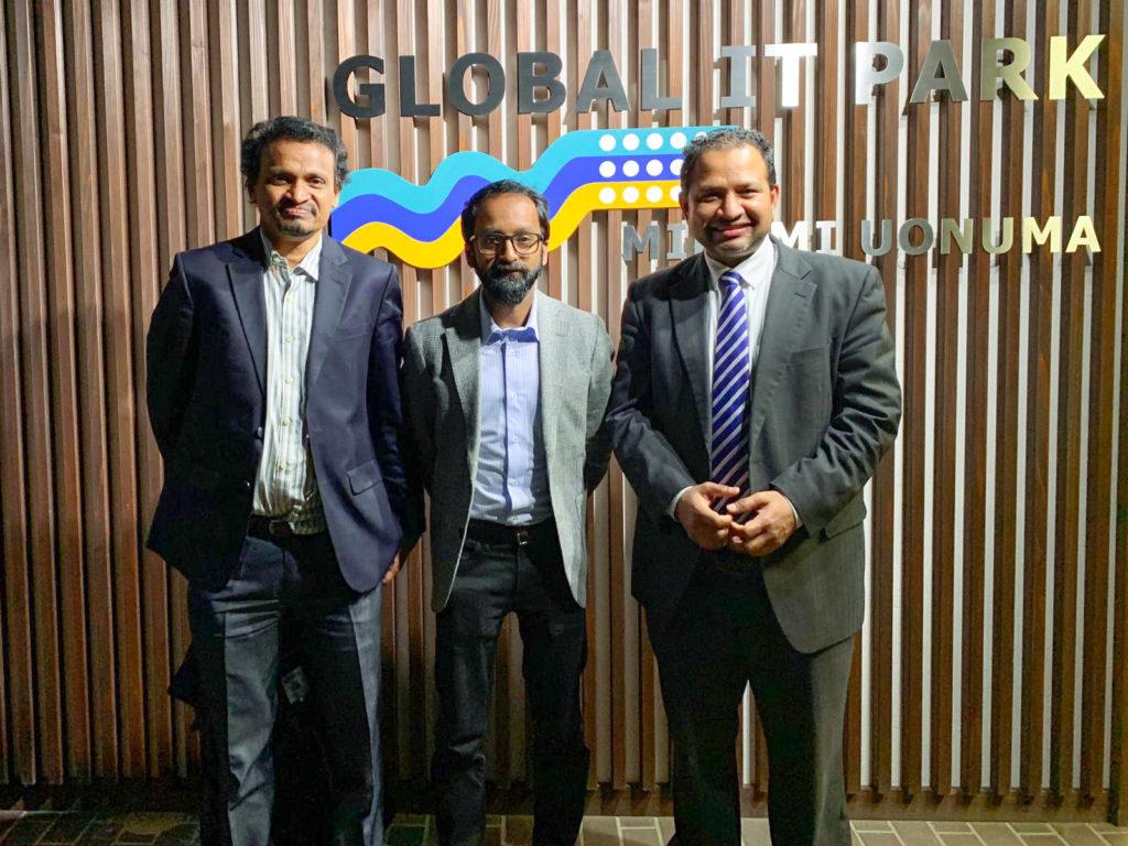プリコルジャパン代表者が本日、グローバルITパークを訪問しました。